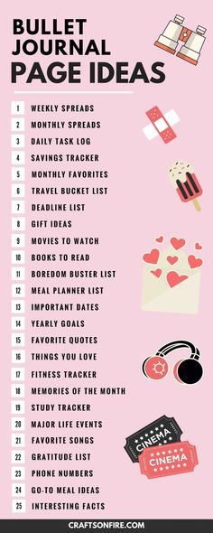 Just what I've been looking for. A perfect list of bullet journals page ideas to help inspire me! I can't wait to get started on my new bullet journal and trying out different journal spread layouts!
