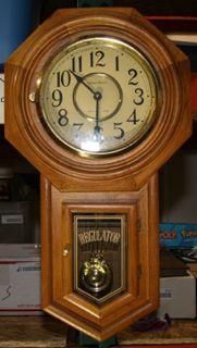 Vintage Linden 31 Day Clock Model 8054b Made In Japan