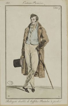 An attractive and relaxed-looking outfit. Costume parisien, 1813