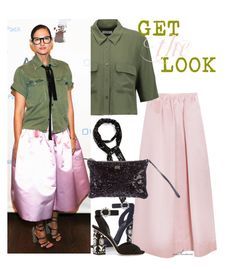 """Get the Look: Jenna Lyons"" by arethaman ❤ liked on Polyvore featuring Dolce&Gabbana, Rochas and Equipment"
