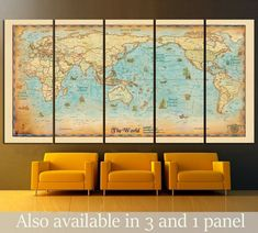 Modern wall art for your home and office decoration. Our contemporary arts is all hand made, We make high quality canvas prints. Browse through thousands of unique wall art ideas, perfect for any space decoration. World Map Wall Art, Wall Maps, Unique Wall Art, Modern Wall Art, Antique World Map, Vintage World Maps, Detailed World Map, Kids World Map, Canvas Art For Sale