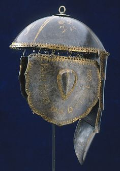 Polish equestrian helmet with cheek and neck protection anchored with mail,  war trophy from the Polish-Swedish wars, Livrustkammaren, Royal Arsenal, Stockholm. The Polish–Swedish Wars were a series of wars between the Polish–Lithuanian Commonwealth and Sweden from 1563 to 1721.