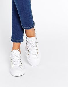 Image 1 of Converse Perforated Leather Ox Trainers