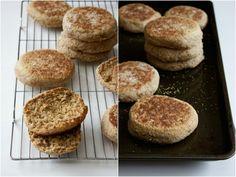 Whole Wheat Sourdough English Muffins by Kitchen Simplicity