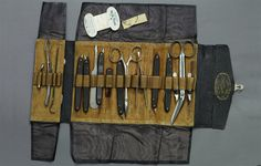 Dr. Samuel Mudd's Medical Kit, c. 1865. Click for Source.
