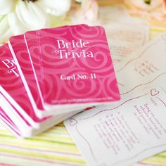 Bridal Shower Trivia Game by Beau-coup