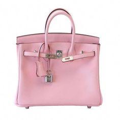 b883889164 Hermes Birkin 25 Bag Rose Sakura Pink Palladium Hardware Swift - A Jewel