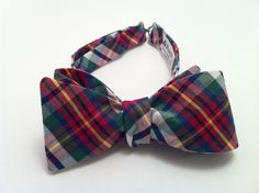 Madras Plaid Self-Tie Bow Tie, Self-Tie Bow Tie, Bow Tie for Adults, Mens Bowtie, Bowties, Bow Ties for Men, Ready to Ship (1449) by Ruells on Etsy https://www.etsy.com/listing/260316818/madras-plaid-self-tie-bow-tie-self-tie