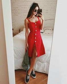 Moda femenina juvenil primavera vestidos 43 New ideas Spring Outfits, Trendy Outfits, Cute Outfits, Fashion Outfits, Fashion Women, Fashion Casual, Moda Fashion, Dress Fashion, Cute Dresses