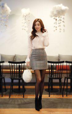 Korean Women`s Fashion Shopping Mall, Styleonme. Korean Fashion Trends, Asian Fashion, Look Fashion, Girl Fashion, Fashion Dresses, Womens Fashion, Classy Outfits For Women, Cute Outfits, Asian Woman