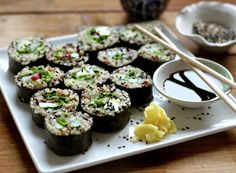Domesblissity: 16 ways to use quinoa  Pictured here: Quinoa Spring Sushi
