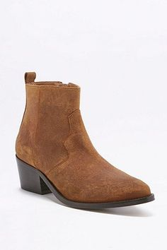 Polly Tan Suede Western Ankle Boots Piumini b35d2800fbc