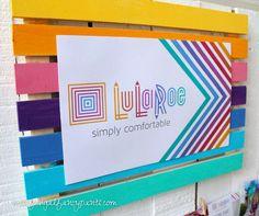 LuLaRoe Party Decor Ideas | Rainbow Party | missfrugalfancypants.com
