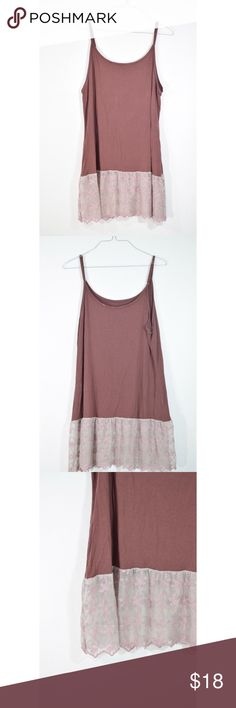 """Lace Extender Tank Worn once. Got from boutique but no tags inside. Like new condition 31"""" L Size is M/L Nordstrom Tops"""