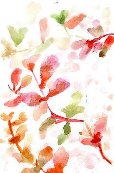 Watercolor Leaf.