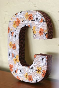 1000 images about c my initial on pinterest letter c for Fabric covered letters