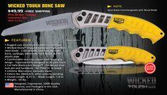 Wicked Bone Saw, Hand Saw and Hunting