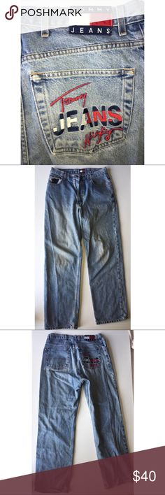 VTG Tommy Hilfiger Jeans size 32 VTG Tommy Hilfiger Jeans size 32 good condition does have one small stain as u can see in pic above hard to notice tho these Jeans are RARE! Tommy Hilfiger Jeans