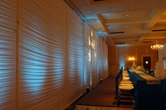 White Spandex Backdrop -- if use garage...to cover walls.....Christmas party
