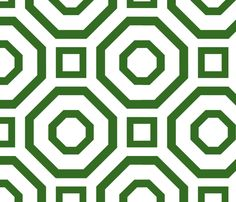 Geometry Green fabric by avance on Spoonflower - custom fabric