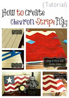 4th of July Chevron Flag