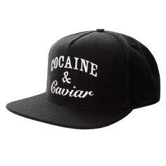 CROOKS & CASTLES - COCAINE AND CAVIAR SNAPBACK CAP