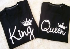 King and Queen t-shirts Roi et reine t-shirt queen by sugararmy46