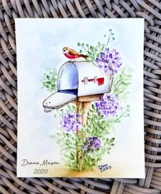 Watercolor Projects, Watercolour Tutorials, Watercolor Cards, Art Impressions Stamps, Creative Cards, Card Ideas, Card Making, Watercolors, Crafts