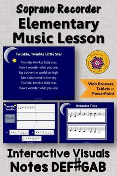 Looking for a recorder song and an elementary music lesson! This is perfect for your music lesson plans working with with soprano recorders and notes DEF Your students will LOVE these interactive visuals! Music Classroom, Music Teachers, Music Education Activities, Elementary Music Lessons, Music Lesson Plans, Teaching Music, Students, Notes, Teaching Ideas