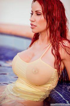 Will not Redhead big tits open shirt