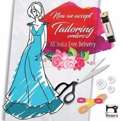 Now we accept TAILORING orders  All India Free delivery  1-2 week for completing stitching order (except shipping time)  Salwar suit stitching starts with Rs 350  Kurti and Blouse stitching starts with Rs 250  Anarkali suit stitching starts with Rs 850  zip / piping / Hemming Rs50 additional  Extra rates for any added accessories (Latkans Tassels Lace Gota cup Buttons zip button lining etc.)  Easy way to send measurement  For detailed pricing please chat on fb http://ift.tt/2xDvEtB  For…