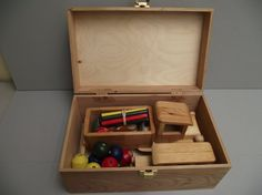 Reclaimed Wood BOX of TOYS with Latch by Aroswoodcrafts on Etsy, $35.00