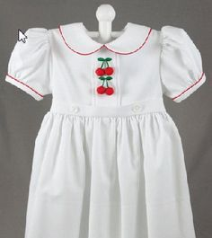 "Saint Louis Women's Exchange makes the most charming 100% cotton children's ""cherry"" dresses and trouser sets. I think my mother took all her cues from this century-old institution (plus, they make a dynamite chopped salad!)"