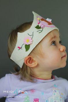 HeidiandFinn modern wears for kids: Birthday Crown Tutorial - and free pattern