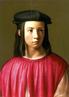 Florentine School, Portrait of Giovanni Gaddi, c.1505 #renaissance #art
