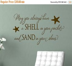 ON SALE May You Always Have a Shell in Your Pocket Wall Decal - Beach Nautical…