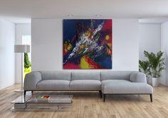 """image.jpeg (Peinture),  36x36x1,5 in par Viv """"Célébration"""" dans son décor de iartview."""