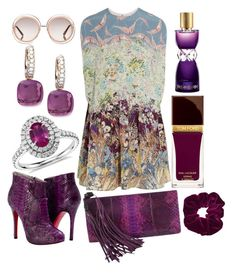 Valentino Purple by pulseofthematter on Polyvore featuring polyvore fashion style Valentino Gucci Blue Nile Pomellato Topshop Chloé Yves Saint Laurent Tom Ford women's clothing women's fashion women female woman misses juniors