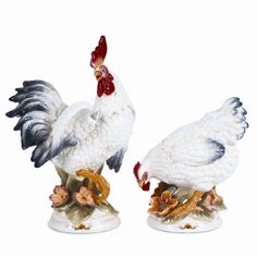 Salt and Pepper Shakers Fritz and Floyd Chanteclair Rooster