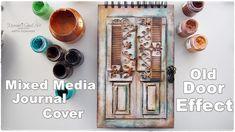 DIY Old Door Effect Journal Book Cover Tutorial ♡ Craft Hack ♡ Maremi's Small Art ♡ - YouTube