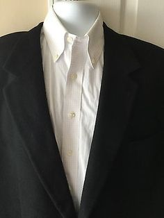 Brooks Brothers Men's Solid Black Camel Hair Sport Coat Blazer 46L 46 Long