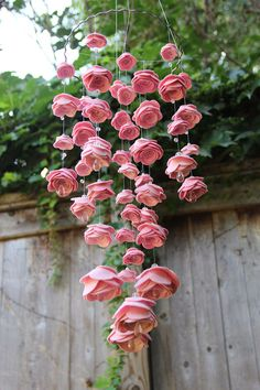 DIY but with real flowers in longer strands for the wedding day! Brooklyn Made felt baby mobiles.