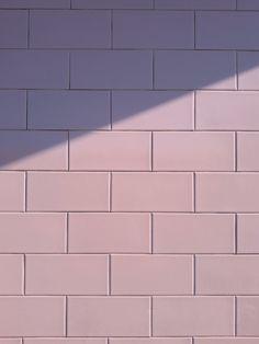 Pink wall wallpaper rectangles shadow