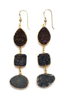 Midnight Druzy Earrings...I so want these!
