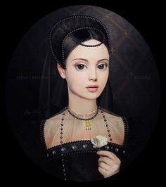 Digital Portraits by Jenny Marie Smith - Cruzine Wives Of Henry Viii, Tudor Dynasty, Gothic Fantasy Art, Medieval Paintings, Wars Of The Roses, Tudor History, Art History, Digital Portrait, Digital Art