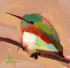 Tody Bird no. 20 Art Print by Angela Moulton 5 x 5 inch