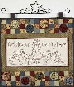 RETIRADO DA NET | Retirado da net/ Esse trabalho não é meu, … | Flickr Broderie Primitive, Primitive Stitchery, Quilting Tutorials, Quilting Projects, Sewing Projects, Cross Stitch Embroidery, Embroidery Patterns, Quilt Patterns, Small Quilts