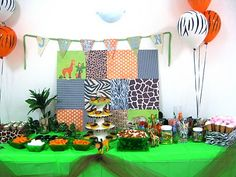 love this backdrop idea...find fabrics that coordinate with party theme