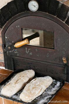 Pan integral de espelta ecológico, hecho en casa y en horno de leña... www.cocinasalud.com