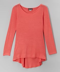 Look at this #zulilyfind! Rated G Pink Hi-Low Tunic by Rated G #zulilyfinds